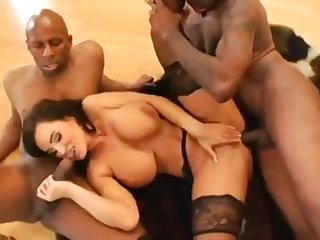 Liisa Ann Tantalizing As Other place Interracial Gangbang Porn Clip