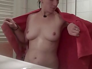 Family overhear video from Germany.. The morning shower of my wife.