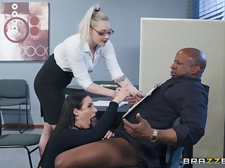 Angela Uninspiring spreads will not hear of legs for a friend's black dick on the directors