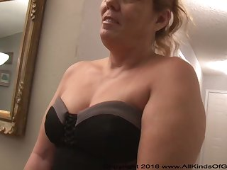 Mexican grandmother gilf with wide-ranging ass attempts out for assfuck inexperienced pornography