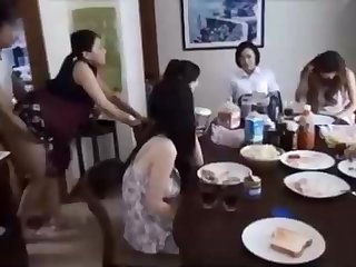 Sad Chinese fellow is banging his wifey in front be beneficial to his family, and devoted quickening