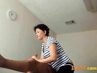 Asian Massage Parlour Old Asian Young gentleman Makes Purchaser Exclaim