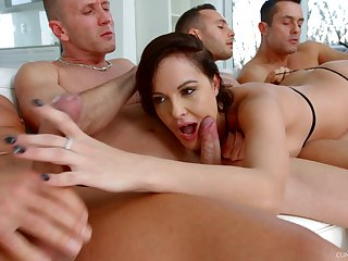 Ultimate blowbang movie featuring skilled sucking head Dolly Diore