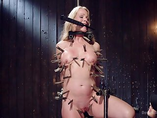 Brutal and painful torture session in the matter of blonde milf Simone Sonay
