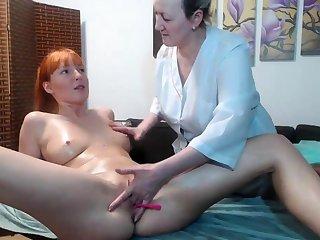 Hot bush-league lesbian massage added to fingering