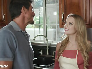 Stepdad can't cock a snook at a young woman's seduction with an increment of she's got such a nice ass