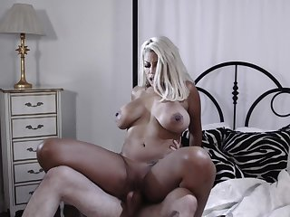 Horny girlfriend fucks his GF's mature neighbor Bridgette B.