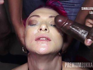 PremiumBukkake - Daniella Shine swallows 74 huge mouthful cumshots