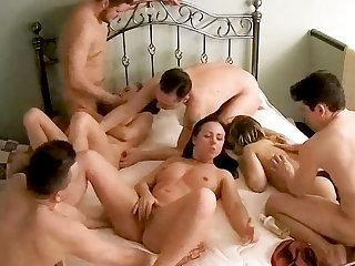 Monumental Amateur Teenage Orgy, Swinger Action not susceptible Hidden Cam