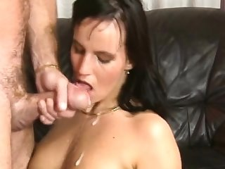 Awesome unskilled full blowjob with facial cumshot